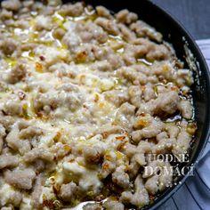 Halušky z pohankové mouky | Hodně domácí Oatmeal, Breakfast, Food, The Oatmeal, Morning Coffee, Rolled Oats, Essen, Meals, Yemek