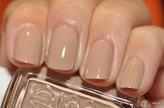 Wore this on my #nails for my #wedding. It was the perfect #neutral  Essie 'Brooch the Subject'
