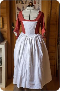 reproduction of 18th century apron
