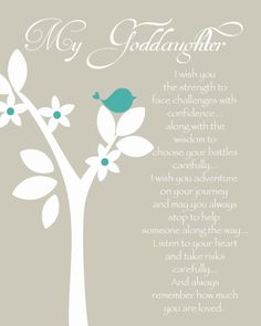 GODDAUGHTER personalized gift Gift for by KreationsbyMarilyn