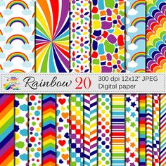 Check out this item in my Etsy shop https://www.etsy.com/listing/288656537/rainbow-digital-paper-set-rainbow