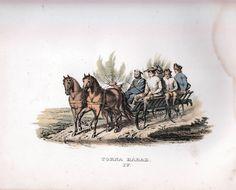 """Torna härad, Skåne, Sweden. Teckning: J.G. Sandberg ur """"Ett år i Sverige"""" av Sandberg/Grafström (1864)"""