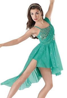 """Turquoise and Gold Sequined Bodice and Glitter Train Skirt - """"Emeraldine"""""""