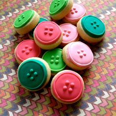 Button cookies on etsy
