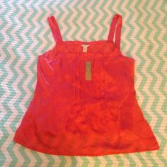 New!! J. Crew camisole Salmon pink front and back pleated 100% silk camisole top J. Crew Tops Camisoles