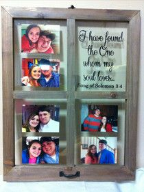 A Little Bit Crafty: Window picture frame