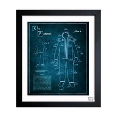 "Coveralls // Crystal Blue $74.99 Product Details — Framed Art Print By Oliver Gal Artist Co.  — Professionally Hand Framed In A 1.2"" Premium Black Frame  — Art Print With White Border Is 10x12 Inches, Final Size (With Frame) Is 12x14 Inches  — Arrives Ready To Hang With All Hardware Included  — 100% Made In The USA  — Includes A Certificate Of Authenticity By The Artist  Colors Multi Materials Fine Art Print On Matte Proofing Paper. Measurements1.5""D Origin United States"