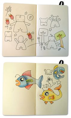 Some notes in my Moleskine books.  by Borku