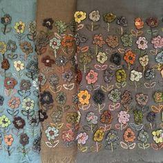 Sophie Digard - Wild Flower Wool Shawl: