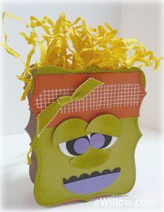 Monster Treat Box Decoration Tutorial #halloween #diy #homedecor