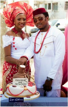 Welcome to Our Traditional Wedding: Marissia + McSamuelImo & Kogi State Traditional We. Nigerian Traditional Wedding, Traditional Wedding Attire, Traditional Dresses, African Attire, African Wear, African Dress, African Print Fashion, African Fashion Dresses, Aso Ebi Dresses
