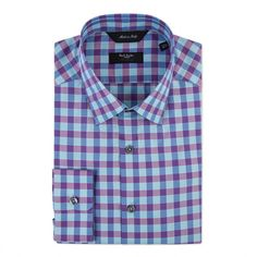 Paul Smith Men's Shirts | Blue And Pink Check Byard Shirt