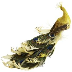 Pier 1 Gold Peacock Clip Ornament $7.95 -- the gold is just more exciting than the standard peacock