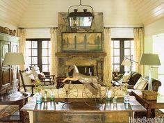 via A Flippen Life South Carolina lake cottage. Interior design by Barbara Westbrook. Architect: Keith Summerour.