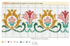 Cross Stitch Rose, Cross Stitch Borders, Cross Stitch Baby, Cross Stitch Flowers, Cross Stitch Charts, Cross Stitch Designs, Cross Stitching, Cross Stitch Embroidery, Embroidery Patterns