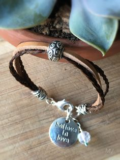 Horse Hair and Leather Braided Bracelet Inspirational Friendship Colorful…