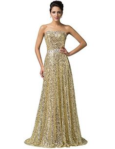 Grace Karin® Brilliant Golden Sequins Gown Dresses with Beadings CL6103 (6) GRACE KARIN http://www.amazon.com/dp/B00Q2RKTNS/ref=cm_sw_r_pi_dp_pxgBvb0EJXVRG