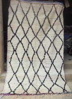 Vintage moroccan woollen Hambal/boucherouite rug   291 x 116cm #Contemporary