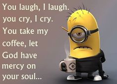 Funny Morning Coffee Minion Pictures, Photos, and Images for Facebook, Tumblr, Pinterest, and Twitter