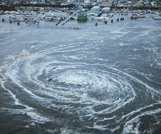 Whirlpool after Japan Tsunami