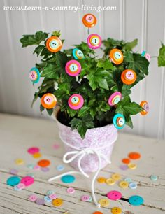 Six Fun Button Crafts | Cozy Little House