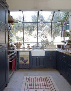 הביתה סלעית מטבח רצפה