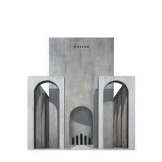 Renato Nicolodi, Acrylic on paper, 74 x 74 cm. Coupes Architecture, Arch Architecture, Architecture Graphics, Islamic Architecture, Architecture Drawings, Futuristic Architecture, Arch Building, Concrete Sculpture, Modernisme
