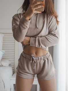 Cute and cropped! Mix and match with our other ranges for the perfect outfit combo. Cropped Hoodie, Mix N Match, White Shorts, Active Wear, Women Wear, Muscle Training, Crop Tops, Brown Beige, Ranges