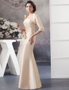 b1fc50f1a28 Two Pieces Mother Of The Bride Dress Suits Strapless Flowers Floor-Length  Mermaid Evening Dress