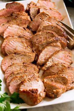 Pork Tenderloin Dutch Oven, Easy Pork Tenderloin Recipes, Pork Roast, Pork Chops, Baked Pork, Oven Baked, Pork Dishes, Rind, Food Network Recipes