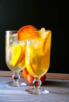 This new twist on the classic Spanish sangria will make your party sizzle. This simple and quick recipe is infused with fresh oranges and lemons which makes for a very refreshing, irresistible drink. Party Drinks, Wine Drinks, Cocktail Drinks, Alcoholic Drinks, Fruity Drinks, Refreshing Cocktails, Sangria Recipes, Cocktail Recipes, Brunch Recipes