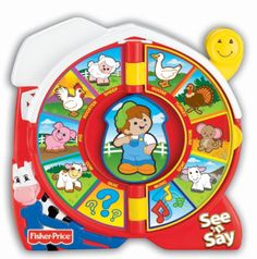 """Old McDonald Had A Farm"" Baby Girl's First Birthday Gifts:   Fisher-Price See 'n Say:  The Farmer Says @ Amazon"