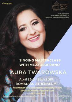 Masterclass with Mezzosoprano Aura Twarowska at Romanian Athenaeum :: nirmal-art.com Master Class, Concert, Art, Culture, Art Background, Kunst, Concerts, Performing Arts, Art Education Resources
