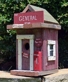 Rustic Birdhouse Primitive Birdhouse General by ruraloriginals