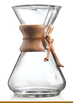 The Chemex Classic Coffeemaker is the epitome of simplicity--there are no parts to plug in and no settings to program. This inventive coffee preparation features the most chemically correct method for