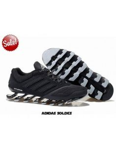 promo code 94ebe 666cd On Feet Mens Adidas Springblade Drive Black Sliver Trainers