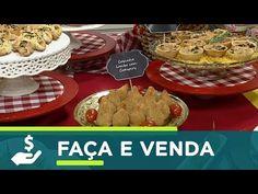 Santa Receita | Minicurso de salgadinho: pérolas de queijo e coxinha de lombo defumado - - YouTube