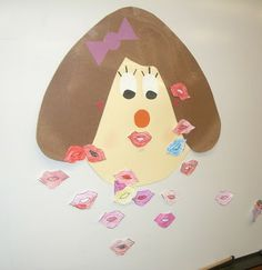 Pin the Lips on the Teacher Game