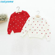How to Discount 15% Original Price US $8.88 Children Girls Cardigan Heart Design Sweater Kids Long Sleeve O Neck Warm Pullover Knitted Clothes New Year Baby Clothing 2 6y something for small businesses #sweaters-cardigans