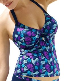 Loving this Blue Seychelles Tankini Top on #zulily! #zulilyfinds