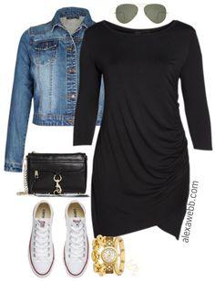 Plus Size Little Black Dress with Sleeves - Plus Size LBD - Plus Size Fashion for Women - alexawebb.com #alexawebb