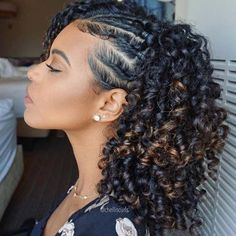Natural Protective Style for Summer Protective Styles for Black Women naturalcur. - Natural Protective Style for Summer Protective Styles for Black Women naturalcurlyhairstyles - Curly Hair Styles, Medium Hair Styles, Braids For Curly Hair, Hair Styles With Curls, Mixed Curly Hair, Curly Hair Ponytail, Natural Curls, Natural Hair Care, Natural Hair Updo