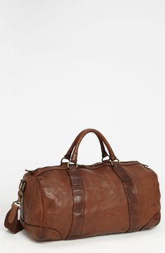 Polo Ralph Lauren Leather Gym Bag available at #Nordstrom