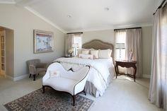 Traditional master bedroom in Santa Ynez ranch home. (interior design by Sara Balough). Santa Ynez, Ranch, Master Bedroom, Interiors, Traditional, Landscape, Interior Design, Creative, Photography