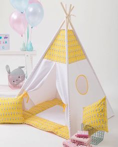 Teepee For Kids Tipi Play Tent Children Playhouse by WigiWama
