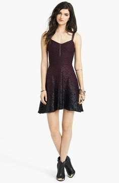 foiled ombre lace dress / free people