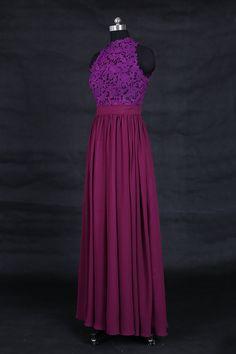 Dark Purple Prom Dress/Eggplant Long Chiffon Prom by weddingdec