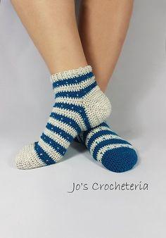 Ravelry: Knit Stitch Crochet Socks pattern by Johanna Holmberg