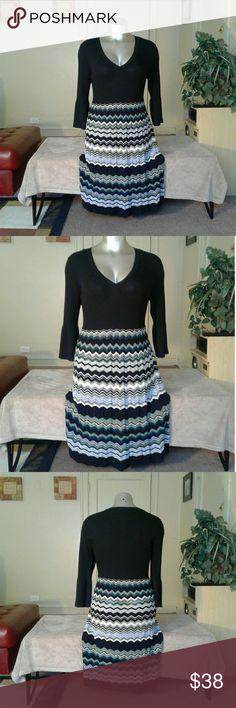 Nine West Multicolored Sweater Dress Dress Dresses Long Sleeve