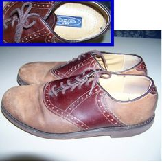 Dexter USA 50s Saddle Oxfords mens rockabilly shoes by pinehaven2, $35.00